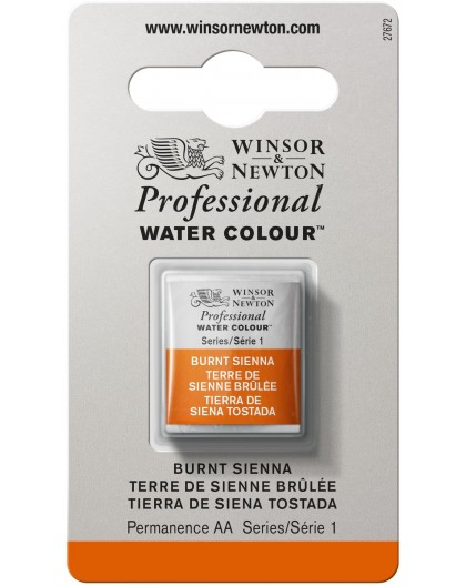 W&N Professional Water Colour - Burnt Sienna 1/2 napje