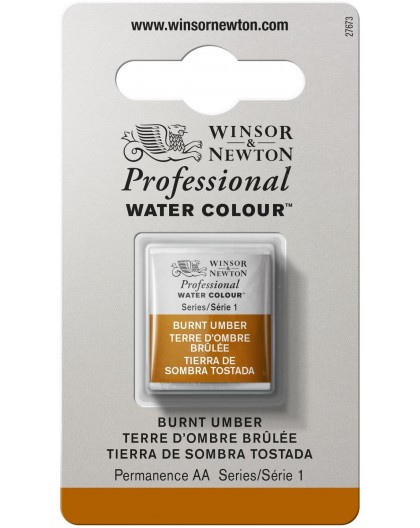 W&N Professional Water Colour - Burnt Umber 1/2 napje