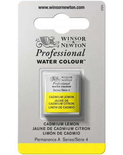 W&N Professional Water Colour - Cadmium Lemon 1/2 napje