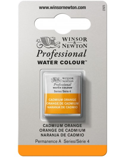 W&N Professional Water Colour - Cadmium Orange 1/2 napje