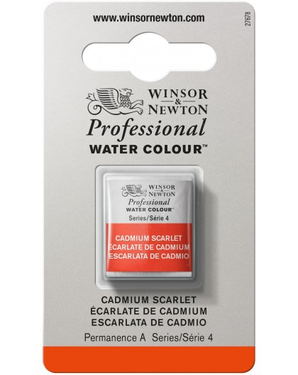 W&N Professional Water Colour - Cadmium Scarlet 1/2 napje