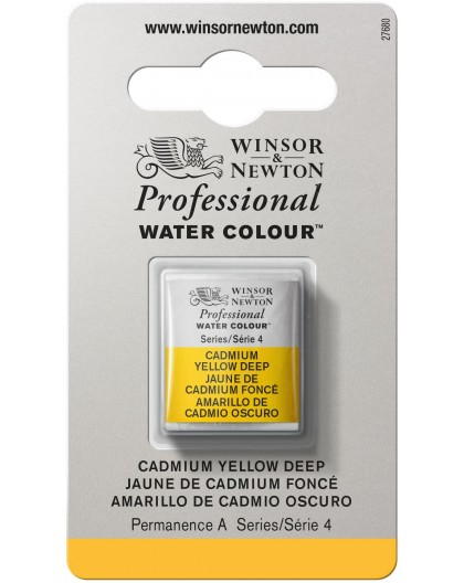 W&N Professional Water Colour - Cadmium Yellow Deep 1/2 napje