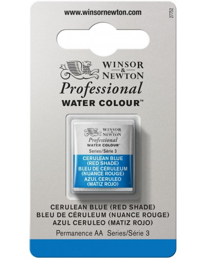 W&N Professional Water Colour - Cerulean Blue (Red Shade) 1/2 napje
