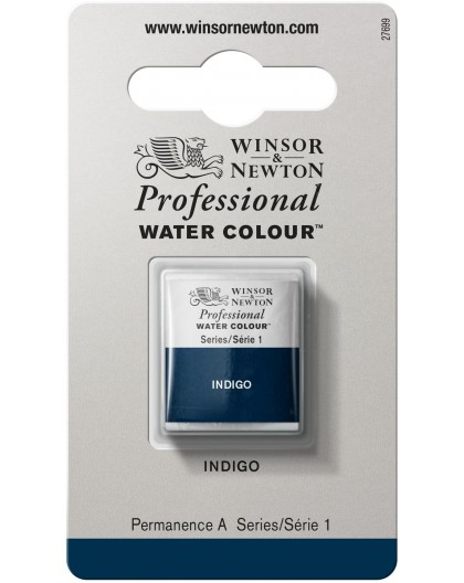 W&N Professional Water Colour - Indigo 1/2 napje