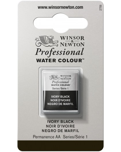 W&N Professional Water Colour - Ivory Black 1/2 napje