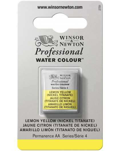 W&N Professional Water Colour - Lemon Yellow (Nickel Titanate) 1/2 napje