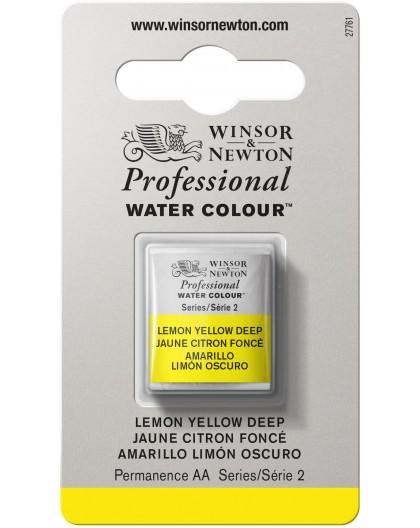 W&N Professional Water Colour - Lemon Yellow Deep 1/2 napje