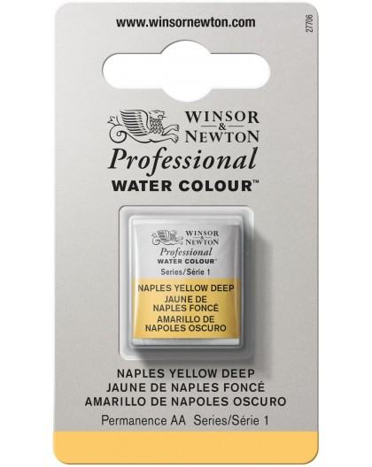 W&N Professional Water Colour - Naples Yellow Deep 1/2 napje