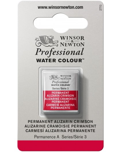W&N Professional Water Colour - Permanent Alizarin Crimson 1/2 napje