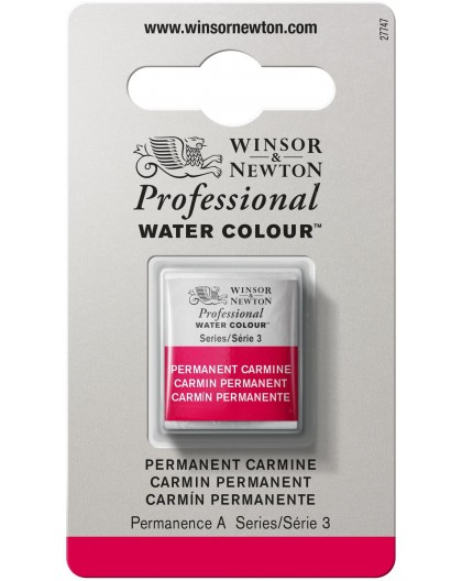 W&N Professional Water Colour - Permanent Carmine 1/2 napje