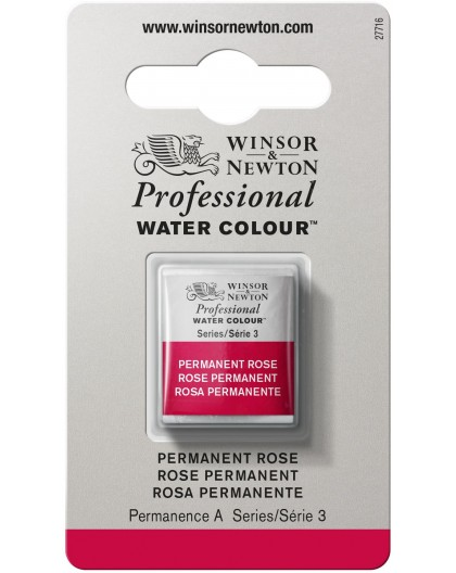 W&N Professional Water Colour - Permanent Rose 1/2 napje