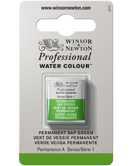 W&N Professional Water Colour - Permanent Sap Green 1/2 napje