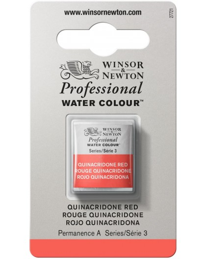 W&N Professional Water Colour - Quinacridone Red 1/2 napje