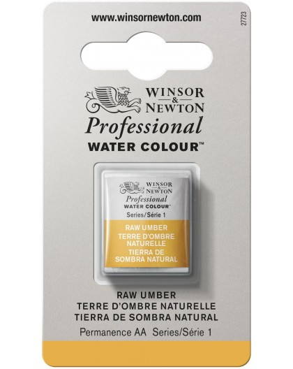 W&N Professional Water Colour - Raw Umber 1/2 napje