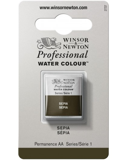 W&N Professional Water Colour - Sepia 1/2 napje