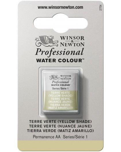 W&N Professional Water Colour - Terre Verte (Yellow Shade) 1/2 napje