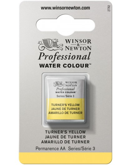 W&N Professional Water Colour - Turner's Yellow 1/2 napje