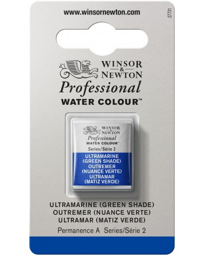 W&N Professional Water Colour - Ultramarine (Green Shade) 1/2 napje