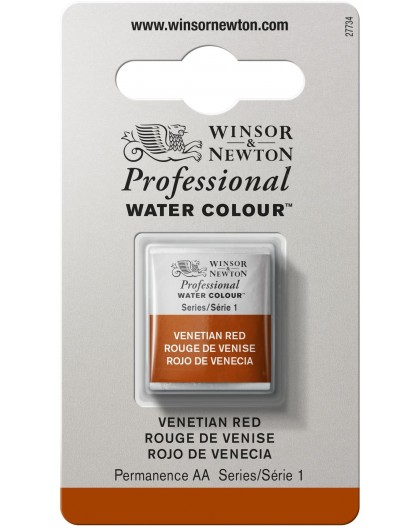 W&N Professional Water Colour - Venetian Red 1/2 napje
