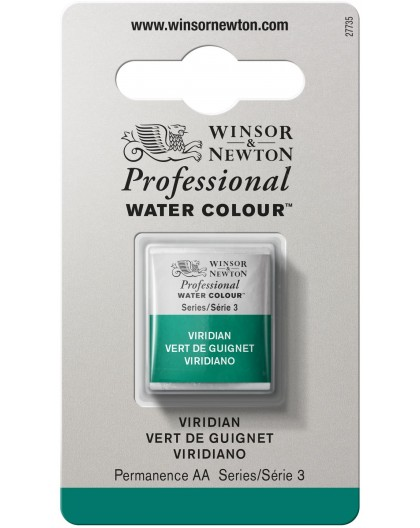 W&N Professional Water Colour - Viridian 1/2 napje