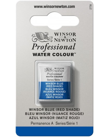 W&N Professional Water Colour - Winsor Blue (Red Shade) 1/2 napje