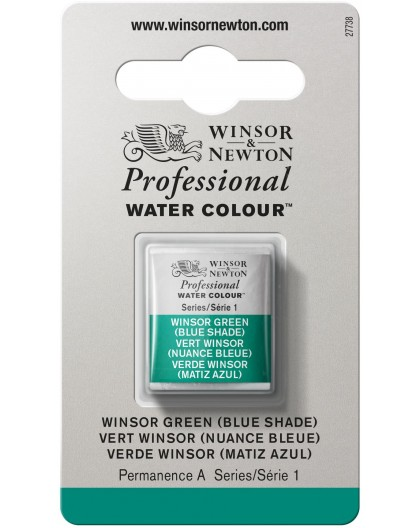 W&N Professional Water Colour - Winsor Green (Blue Shade) 1/2 napje