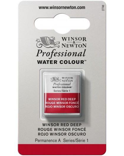 W&N Professional Water Colour - Winsor Red Deep 1/2 napje