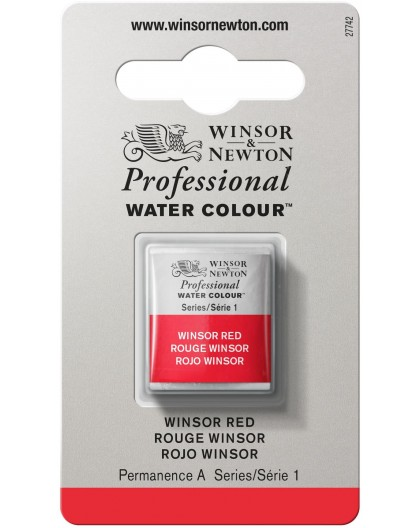 W&N Professional Water Colour - Winsor Red 1/2 napje