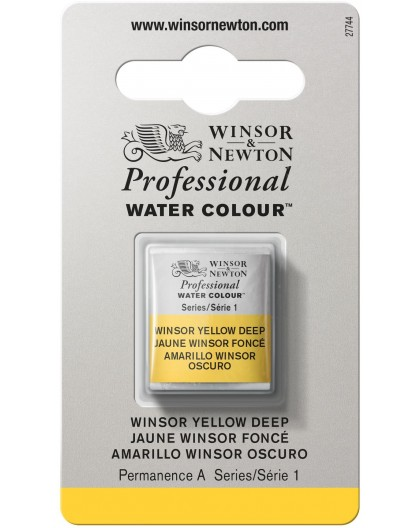 W&N Professional Water Colour - Winsor Yellow Deep 1/2 napje