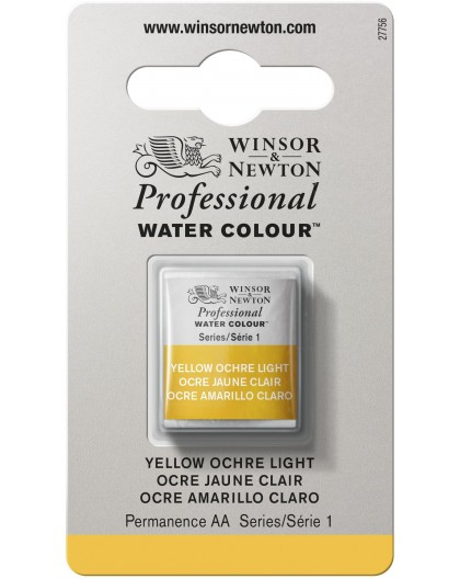 W&N Professional Water Colour - Yellow Ochre Light 1/2 napje