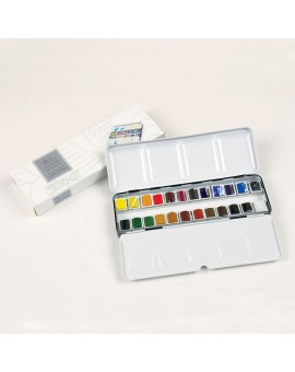 W&N 24 halve napjes - Professional Water Colour Lightweight Box