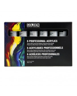 Set 6 tubes 59ml - Golden Professional Heavy Body Acrylic