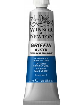 W&N Griffin Alkyd Colours - Ultramarine Green Shade (667)