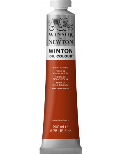 W&N Winton Oil Colour - Burnt Sienna tube 200ml