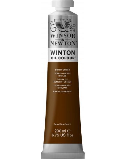 W&N Winton Oil Colour - Burnt Umber tube 200ml