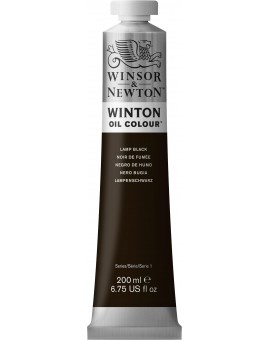 W&N Winton Oil Colour - Lamp Black (337)