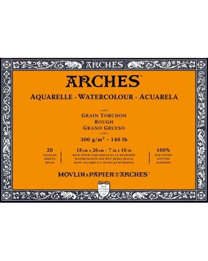Arches aquarelblok Grain Torchon - 18x26cm