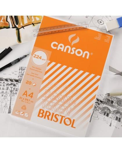 Canson Bristol - blok met 20 vellen tekenpapier