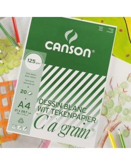 Canson C à Grain 125gr/m² - blok tekenpapier