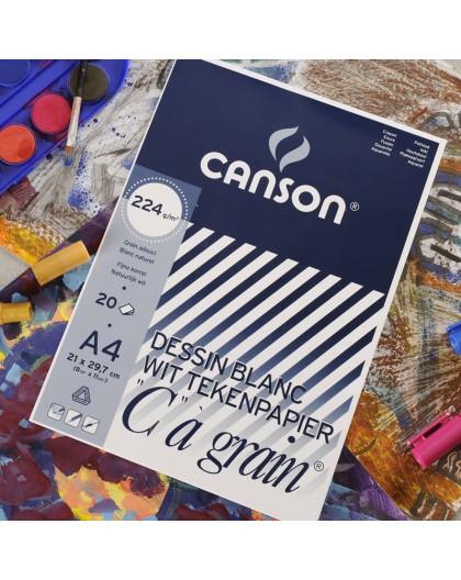 Canson C à Grain 224gr - blok tekenpapier