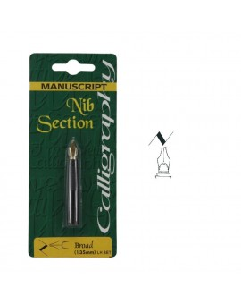Manuscript nib section