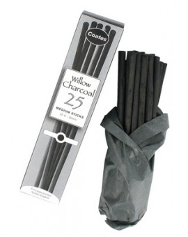 Coates houtskool 25 Medium Sticks