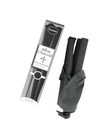 Coates houtskool 4 Extra Thick Sticks