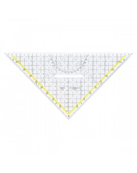 Aristo geodriehoek in Plexiglas® met handvat (22,5 cm)