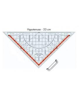 Standardgraph geodriehoek met afneembaar handvat