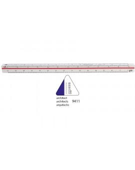 Standardgraph 9411 driehoekige schaallat 30cm