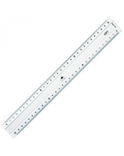 Graphoplex plastic meetlat met halve millimeter aanduiding 30 cm