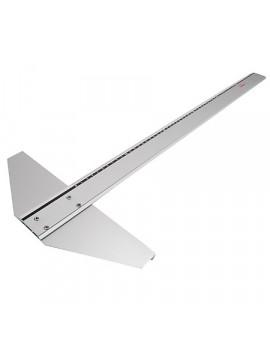 Italgraf aluminium T-lat met vaste kop - 60 cm