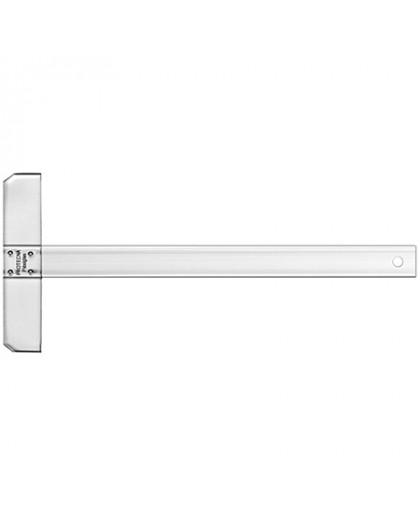 Graphoplex plastic T-liniaal met vaste kop - 80 cm
