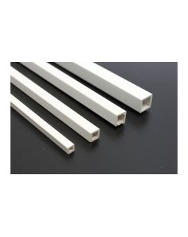 Kunststof buis vierkant profiel wit - 5-7mm (per 2 stuks)